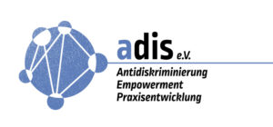 Logo von adis e.V. Anridiskriminierung* Empowerment * Praxisentwicklung